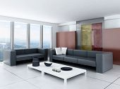 Sala interior com design ultra moderno parede