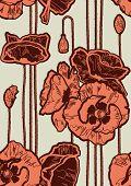 nahtlose Poppies Hintergrund