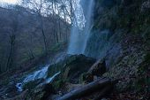 stock photo of swabian  - The waterfall of Bad Urach Swabian Alb Baden - JPG