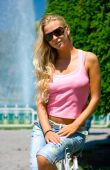 Blonde At The Fountain