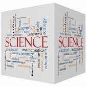 pic of criminology  - Science 3D Cube Word Cloud Concept with great terms such as biology earth ecology natural and more - JPG