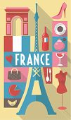france paris travel poster