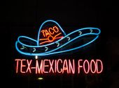 Neon Tex-mexican Food Sign