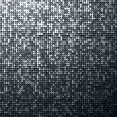 stock photo of flashing  - Black seamless shimmer background with shiny silver and black paillettes - JPG
