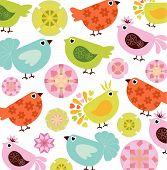 Abstract Bird Pattern