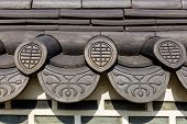 Roof eave of traditional building in Korea