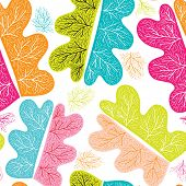 Seamless retro leaf with hand drawn nerves illustration background pattern in vector