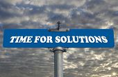 Time for solutions road sign