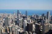HIGH ABOVE THE CITY OF CHICAGO