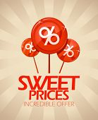 Sweet prices design template.