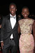 PALM SPRINGS - JAN 4:  Peter Nyong'o (brother), Lupita Nyong'o at the Palm Springs Film Festival Gal