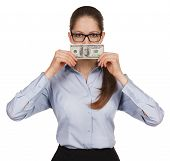 Girl Holding A Hundred Dollar Bill