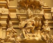 Goddess Saraswati On Sri Naheshwara Temple In Bangalore.