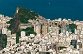 picture of ipanema  - Rio de Janeiro Ipanema and Copacabana districts aerial view from the mountain. ** Note: Slight blurriness, best at smaller sizes - JPG