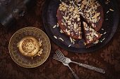 image of tarts  - Chocolate pie - JPG