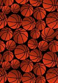 Basketball halftone pattern.