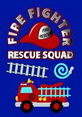 Fire fighter rescue squad