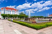 SOPOT, POLAND - 7 JUNE: Architecture of Sopot at the Molo on 7 June 2014. Sopot is major health and