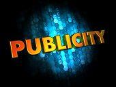 Publicity - Gold 3D Words.
