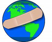 Earth With Bandaid.