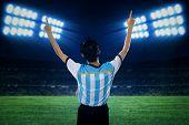 Argentine Soccer Player Celebrate Winning