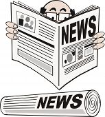 News headline cartoon