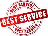 Vector Best Service Stamp