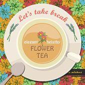 Template of flower tea