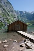 Boathouse At Obersee