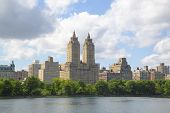 Eldorado Building and Jacqueline Kennedy Onassis Reservoir with Manhattan skyline