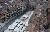 View Over Piazza Delle Erbe (market's Square), Verona