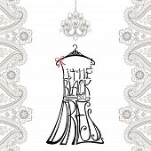 picture of little black dress  - Typography Dress Design - JPG