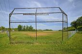 Old Baseball Backstop and Diamond
