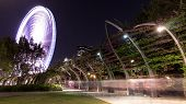 picture of ferris-wheel  - Brisbane ferris wheel is located on Southbank Parklands in Brisbane - JPG