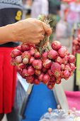 stock photo of red shallot  - Shallot - asia red onion in the market