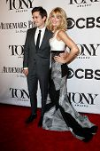 NEW YORK-JUNE 8: Matt Doyle (L) and Beth Behrs attend American Theatre Wing's 68th Annual Tony Awards at Radio City Music Hall on June 8, 2014 in New York City.