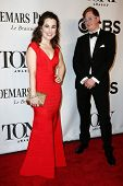 NEW YORK-JUNE 8: Actress Lauren Worsham (L) and husband Kyle Jarrow attend American Theatre Wing's 6