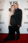 NEW YORK-JUNE 8: Recording artist Sting (R) and wife Trudie Styler attend American Theatre Wing's 68th Annual Tony Awards at Radio City Music Hall on June 8, 2014 in New York City.