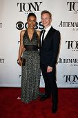 NEW YORK-JUNE 8: Actress Sophie Okonedo (L) and Ben Daniels attend American Theatre Wing's 68th Annu