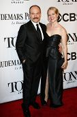 NEW YORK-JUNE 8: Actor Danny Burstein (L) and Rebecca Luker attend American Theatre Wing's 68th Annu