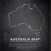Australia map blackboard chalkboard vector