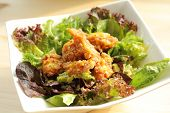 Deep fried chicken salad