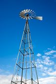 Tall Water Pumping Windmill