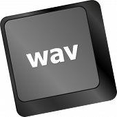 Wav Word On Keyboard Keys Button