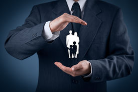 foto of life-support  - Family life insurance family services family policy and supporting families concepts - JPG