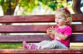 ?ute Toddler On The Bench