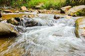 Nice Small Waterfall On Mountain Brook
