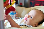 Baby  In Bouncer Chair