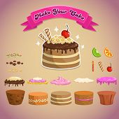picture of fancy cakes  - Sweet elements for making your own cake - JPG