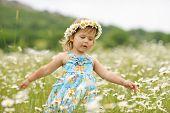 Girl In The Daisy Field